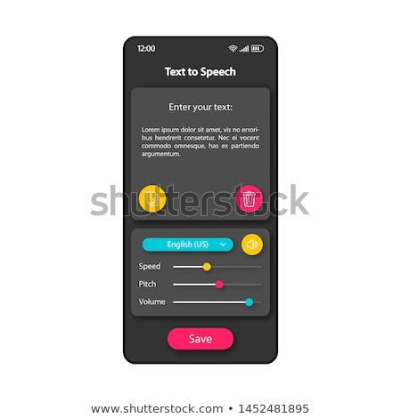 Digitális fordító app interfész sablon felhasználók Stock fotó © RAStudio