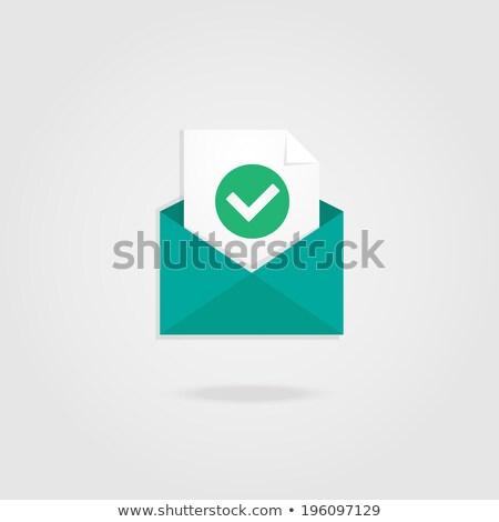 Sms メール セット ポスター メッセージ 名刺 ストックフォト © robuart