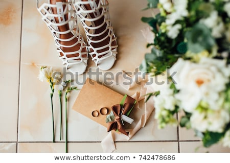 Stock photo: bridal garter with other details
