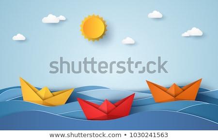 Water vervoer zeilen boot vector Stockfoto © robuart