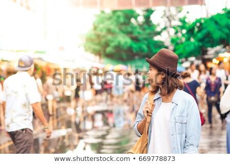 Híres piac Bangkok Thaiföld hétvége legnagyobb Stock fotó © joyr