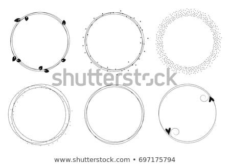 Stock fotó: Virágmintás · keret · gyűjtemény · szett · négy · elemek