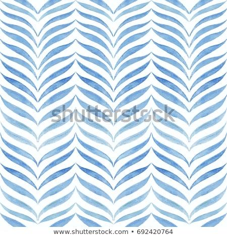 Photo stock: Vecteur · ondulés · ligne · modèle · palmiers