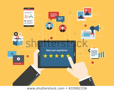 Feedback and qualification  in social media, video or photos Stock photo © cifotart
