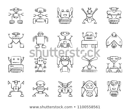 Artificial Intelligence logo hand drawn outline doodle icon. Stock photo © RAStudio
