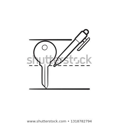 Keyword writing hand drawn outline doodle icon. Stock photo © RAStudio