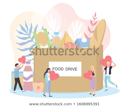 Make a donation - colorful flat design style illustration Stock photo © Decorwithme