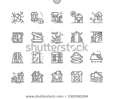 Régi ház falak illusztráció ház otthon háttér Stock fotó © colematt