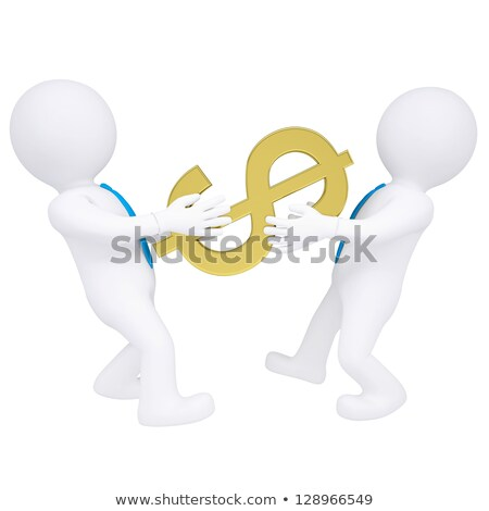 clamp and dollars on white background isolated 3d illustration stock photo © iserg