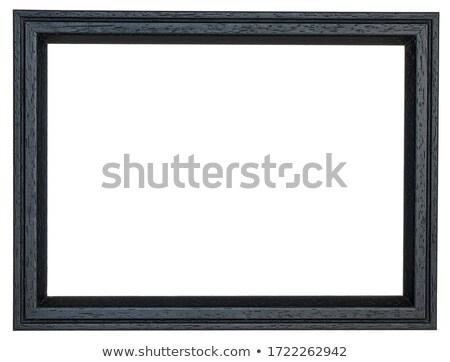 Siyah resim çerçevesi yalıtılmış şeffaf eğim Stok fotoğraf © cammep