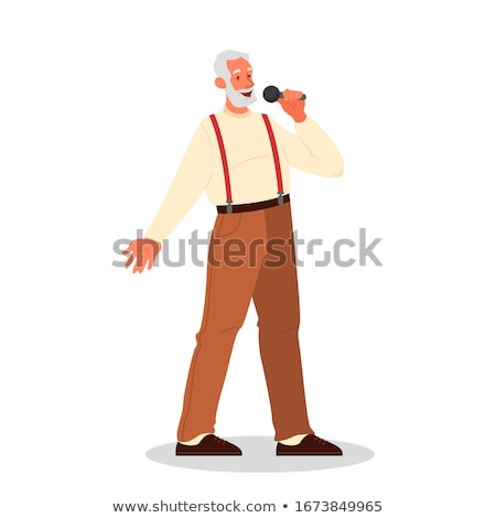 male musicians man singing songs people dancing stock photo © robuart