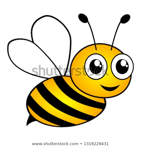 Smiling Cute Bumble Bee Cartoon Character Stock photo © hittoon