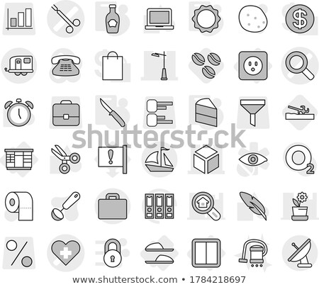 clamp with heart on white background. Isolated 3D illustration Stock photo © ISerg