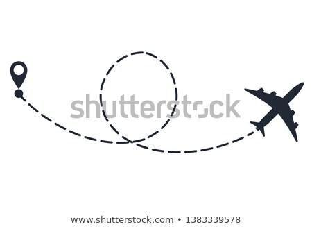 vliegtuig · vlucht · stippel · vliegtuig · hart - stockfoto © andrei_