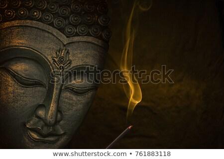 Altın Buda yüz geleneksel Asya sanat Stok fotoğraf © cienpies