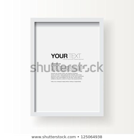 Fotolijstje geïsoleerd grijs textuur muur natuur Stockfoto © cammep