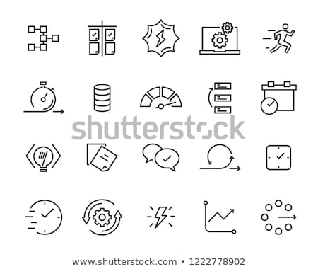 Simple Cloud Processing Vector Icon Stock photo © WaD