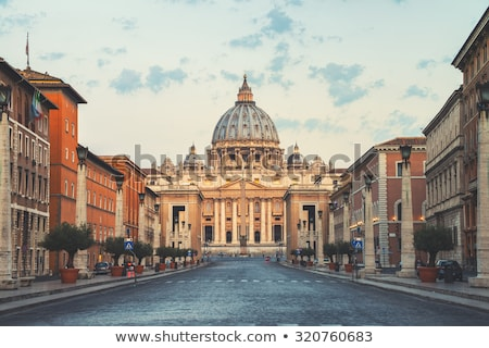 Cathédrale Rome Italie automne route bâtiment Photo stock © neirfy