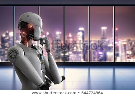thinking robot stock photo © limbi007