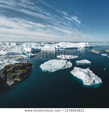 Globalne ocieplenie zmiany klimatyczne lodowiec lodu antena Zdjęcia stock © Maridav