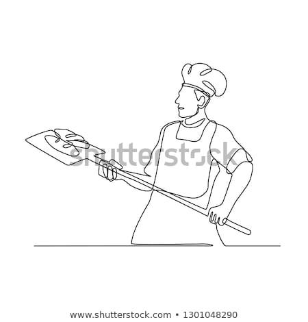 パン オーブン ピール 行 実例 ストックフォト © patrimonio