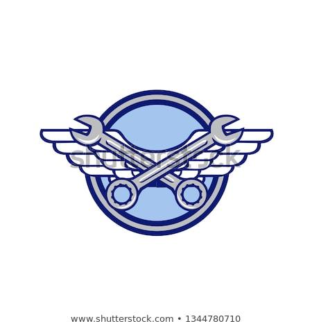 adam · İngiliz · anahtarı · hava · çalışmak · işçi · endüstriyel - stok fotoğraf © patrimonio