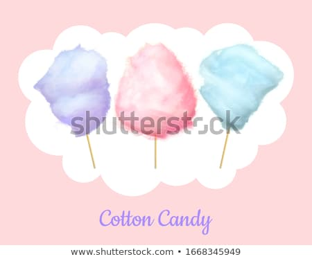 Sweet Blue Cotton Candy of Bilberry Taste Isolated Stock photo © robuart