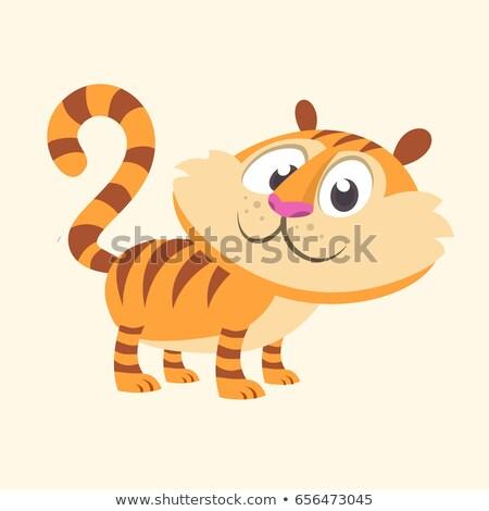 Vadmacska kabala aranyos boldog rajzfilmfigura barátságos Stock fotó © Krisdog