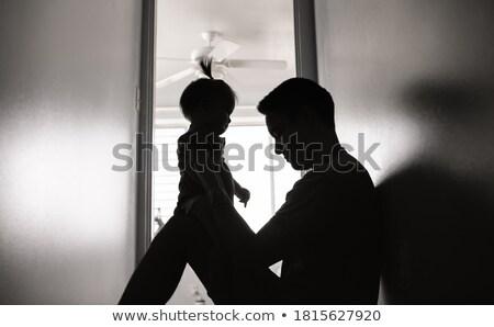 отец мало ребенка дочь домой семьи Сток-фото © dolgachov