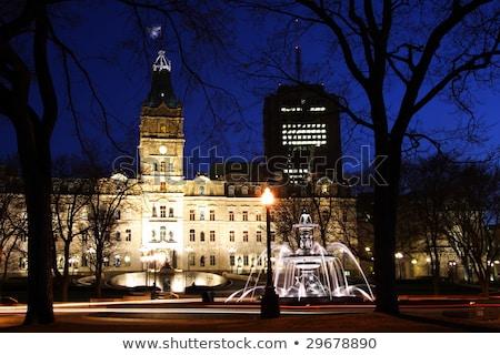 Quebec parlement gebouw stad sneeuw winter Stockfoto © Lopolo