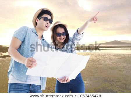 vrolijk · kajakken · rivier · samen · vrouw - stockfoto © wavebreak_media