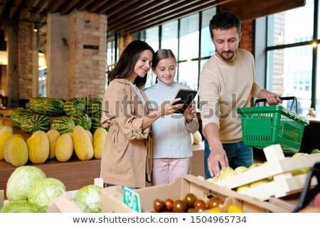 anne · kız · liste · süpermarket · iş · kız - stok fotoğraf © pressmaster