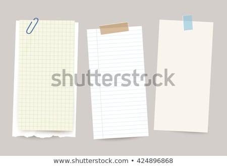 lijst · hand · fiche · transparant · boord - stockfoto © ivelin
