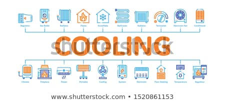 Heating And Cooling Minimal Infographic Banner Vector Stock photo © pikepicture