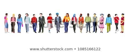 Kulturális diverzitás szalag sokoldalú emberek csoport Stock fotó © cienpies