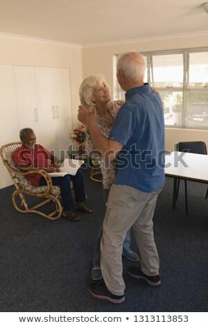 вид сбоку активный танцы старший человека Сток-фото © wavebreak_media