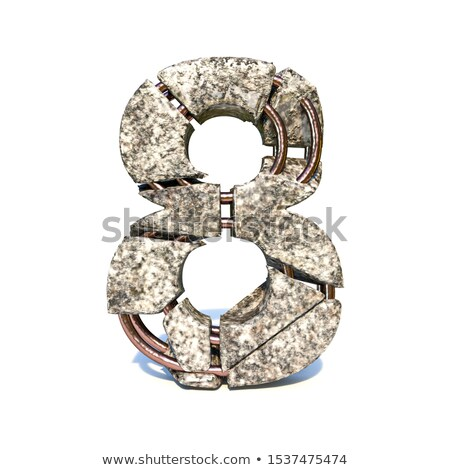 grunge · aluminium · doopvont · aantal · nul · 3D - stockfoto © djmilic