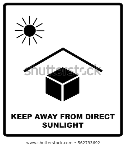 Shipping sign protect from solar radiation packaging symbol. Keep away from sunlight Stock photo © orensila