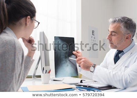 A Patient with doctor radiologist in a hospital Stock photo © Lopolo