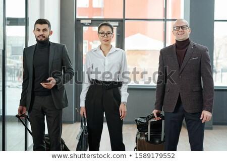 Groep elegante business luchthaven permanente Stockfoto © pressmaster