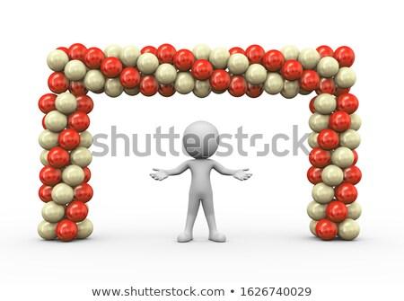 3d render férfi tér léggömbök porta kapu Stock fotó © nasirkhan