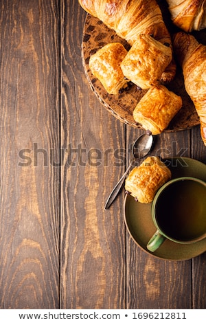 Verde taza té mini chocolate bollo Foto stock © Melnyk