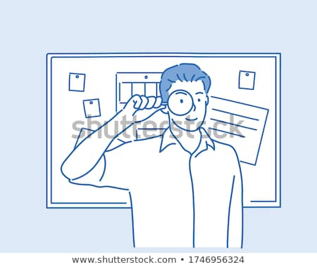 Male with Magnifier Analyzing and Investigating Stock photo © robuart