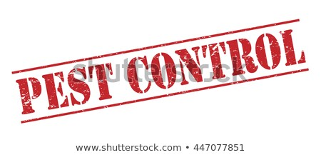 Infecção controlar vetor vermelho isolado Foto stock © THP