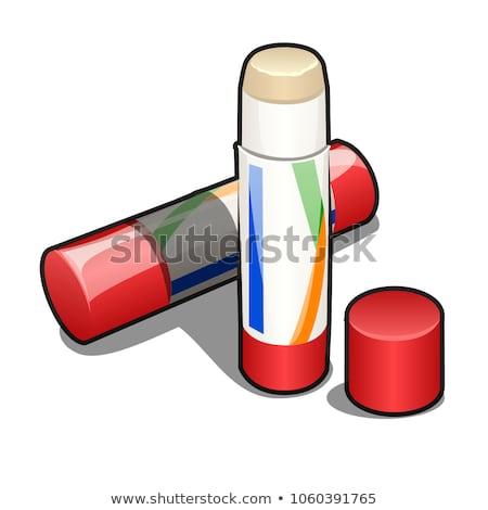 Lijm stick plastic vak geïsoleerd witte Stockfoto © Lady-Luck