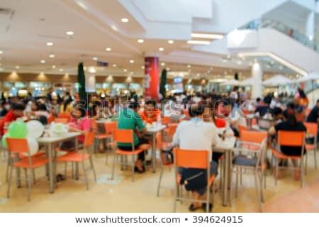 Einkaufszentrum Essen heraus Markt Menschen Stock foto © robuart