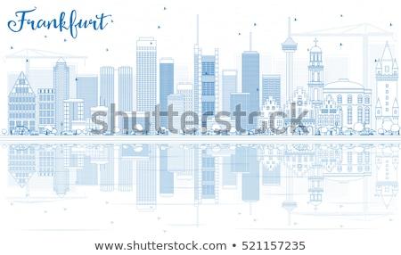 Франкфурт Skyline синий зданий Размышления Сток-фото © ShustrikS