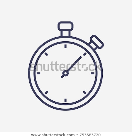 Stopwatch icon vector schets illustratie teken Stockfoto © pikepicture