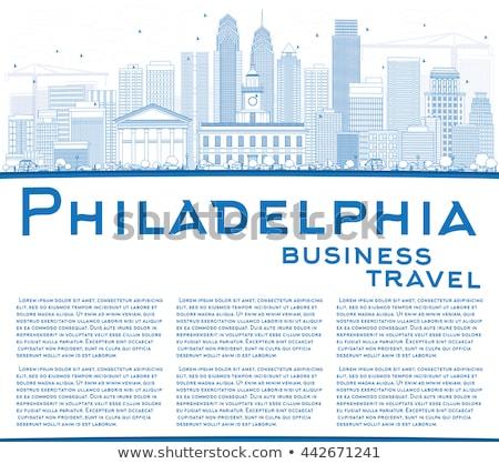 フィラデルフィア スカイライン 青 建物 コピースペース ストックフォト © ShustrikS