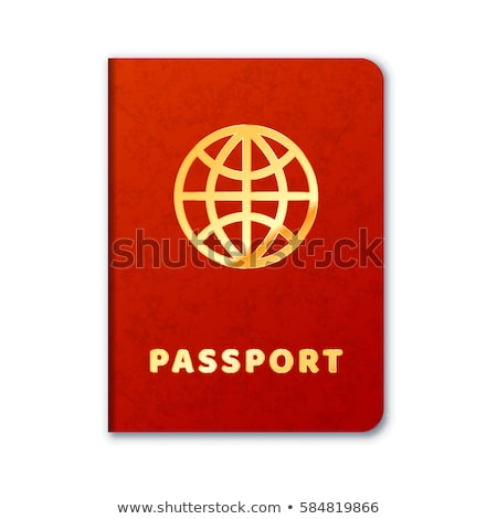 Realista extranjero pasaporte icono rojo cubrir Foto stock © evgeny89